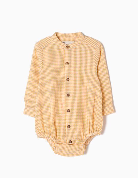 Body-Camisa Ajedrez Amarillo