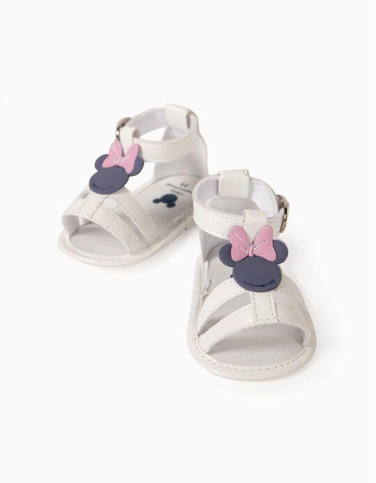 Sandalias para Recién Nacida 'Minnie', Blanco