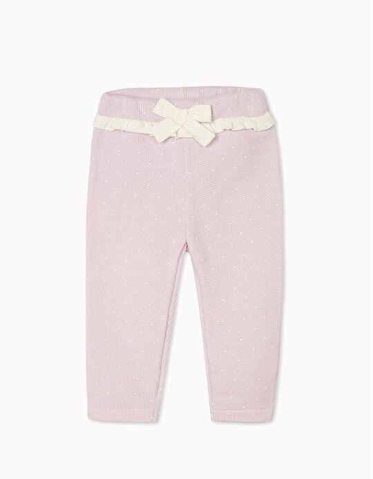 Calças de Malha para Bebé Menina, Lilás