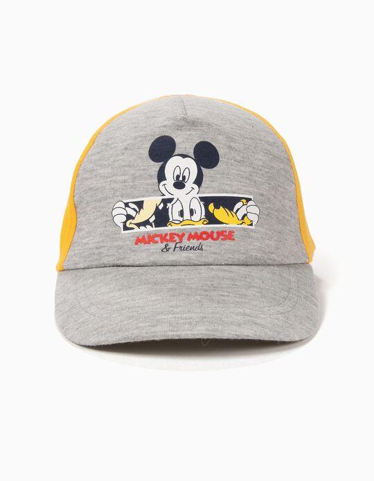 Gorra para Bebé Niño 'Mickey & Friends', Amarilla y Gris