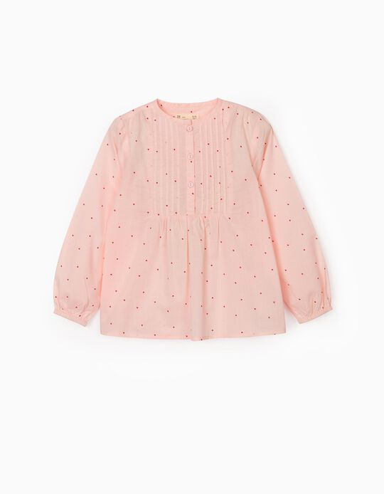 Blouse for Girls 'Hearts', Pink