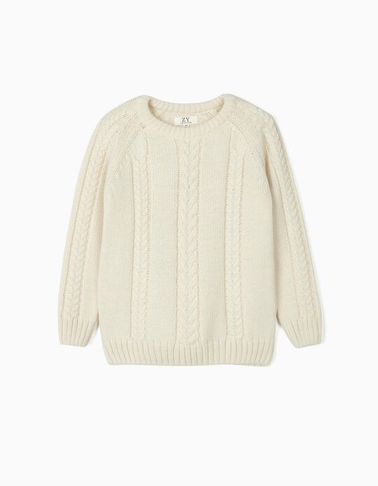 Jumper for Boys and Babies 'You & Me - ZY x Carolina Patrocínio', White