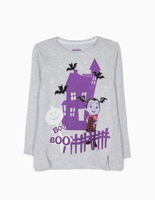 Camiseta de Manga Larga Vampirina Gris