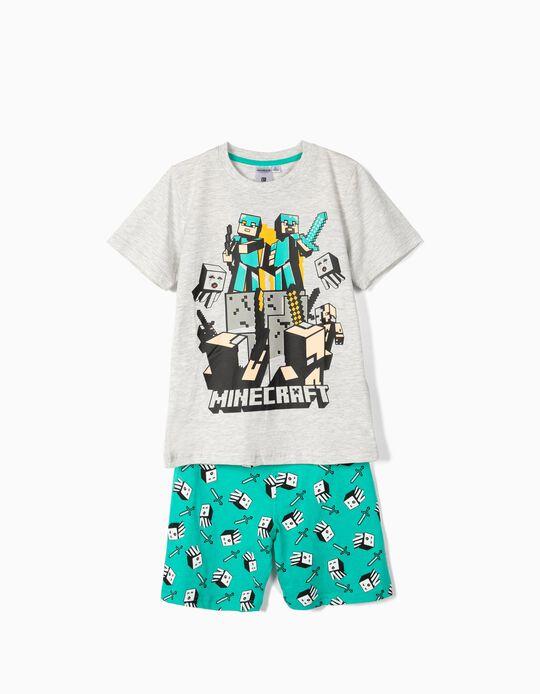Pijama para Menino 'Minecraft', Cinza e Verde