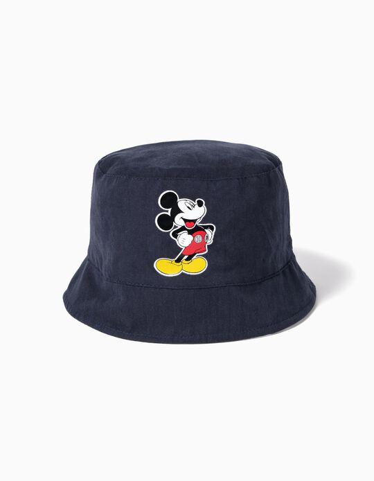 Chapeau réversible bébé garçon 'Mickey', bleu foncé