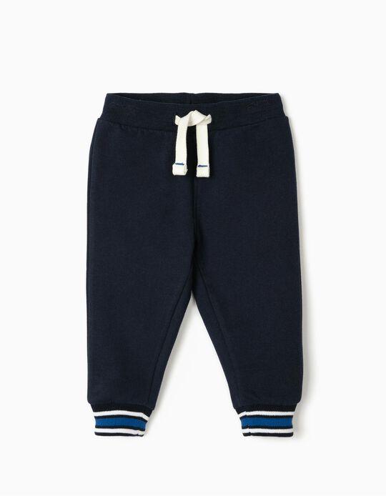 Pantalon de sport bébé garçon, bleu foncé