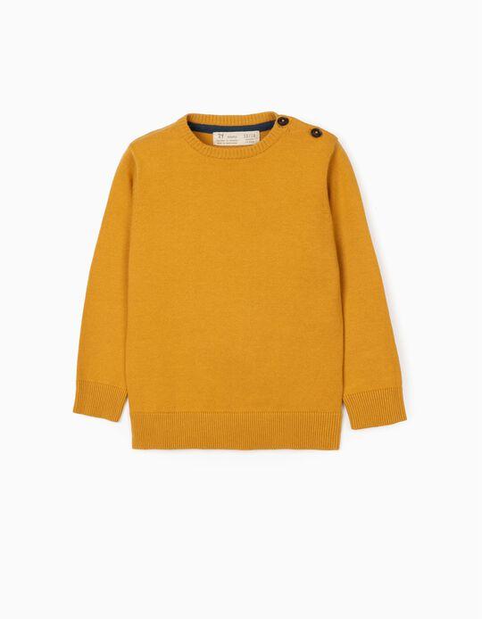 Camisola de Malha para Bébé Menino, Amarelo