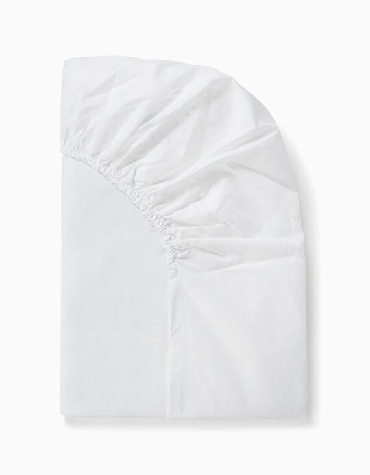 Sábana Ajustable de Cuna 85x55 cm Interbaby Blanca