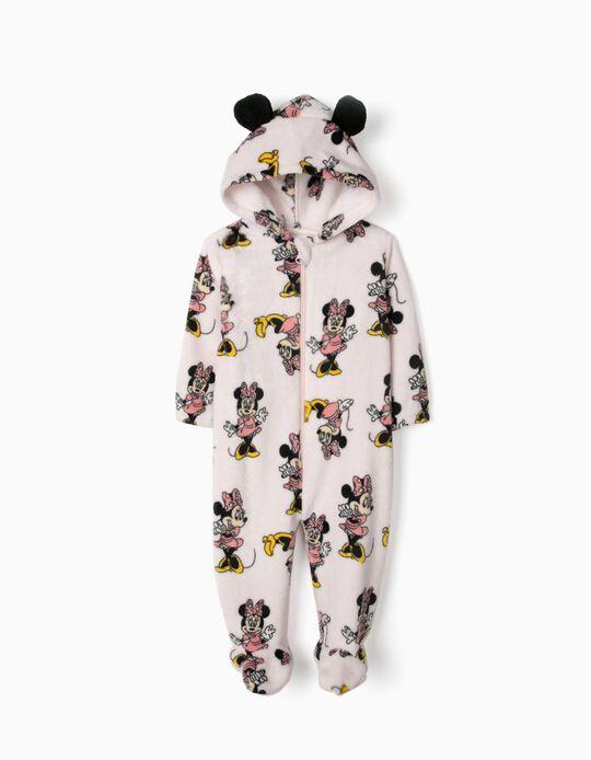 Pyjama-combinaison à capuche bébé fille 'Minnie', rose