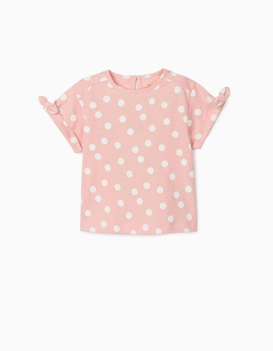 T-shirt para Bebé Menina 'Dots', Rosa