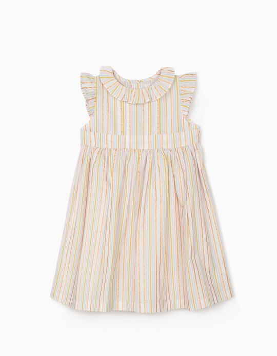 Striped Dress for Girls, Multicoloured