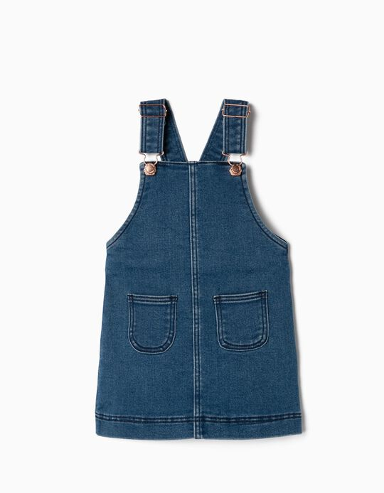 Pinafore Dress for Baby Girls 'Comfort Denim', Blue