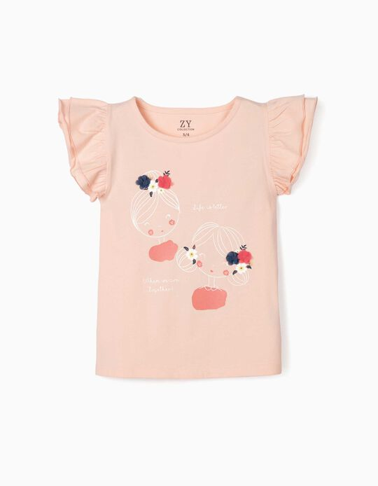 Camiseta para Niña 'Together', Rosa