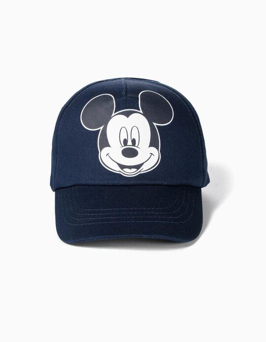Boné para Bebé Menino 'Mickey', Azul Escuro