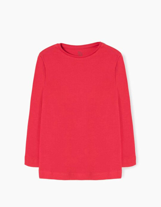 Long Sleeve Top for Girls, Red