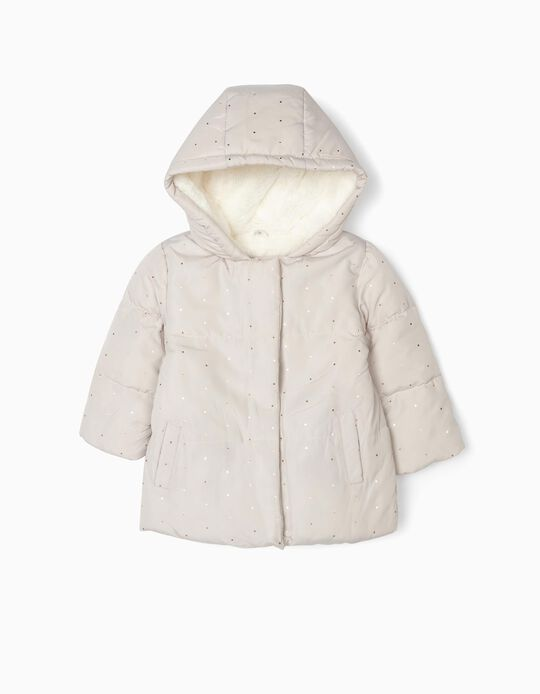 Padded Jacket for Baby Girls 'Dots', Beige