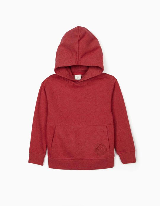 Hooded Sweatshirt for Boys, 'Cairo', Dark Red