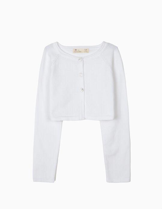 Bolero Jacket for Girls, White