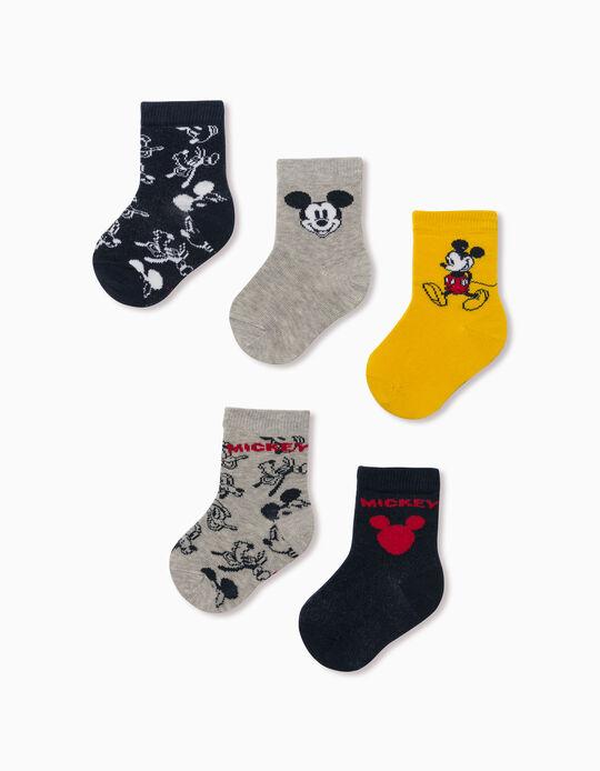 5 paires de chaussettes bébé garçon 'Mickey & Friends', multicolore