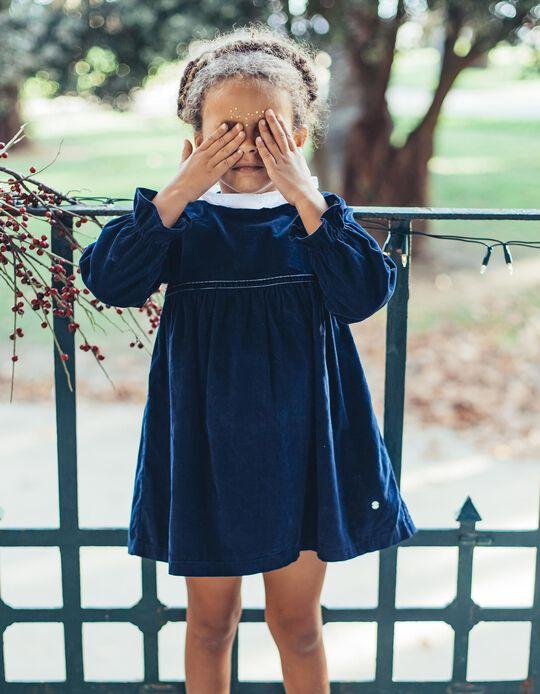 Vestido de Pana Azul Oscuro