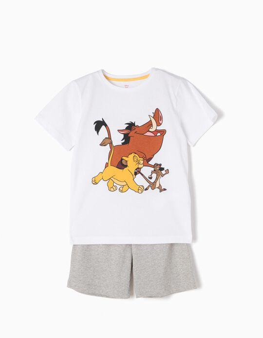 Pijama con Camiseta y Short Rey León