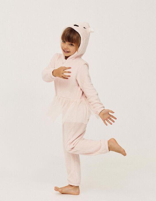 Pijama Mono para Niña 'Bailarina', Rosa