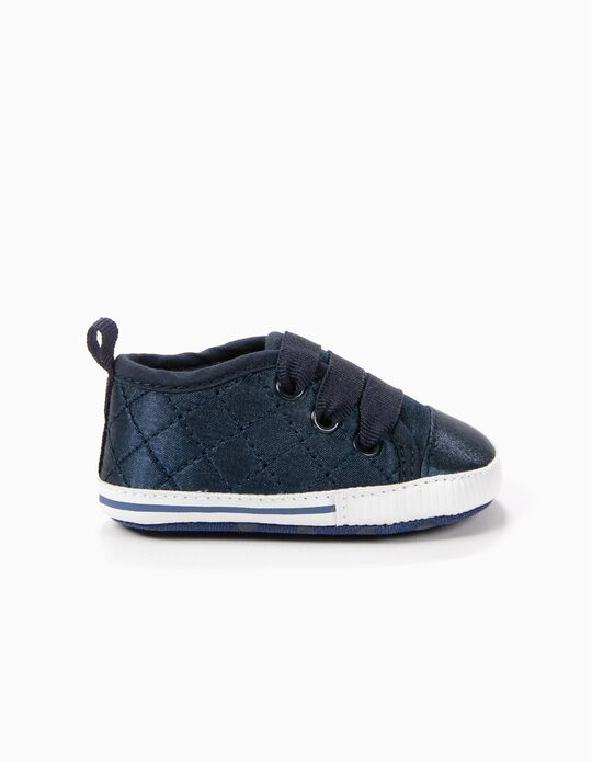 Zapatillas Pre-Walker Satén Azul