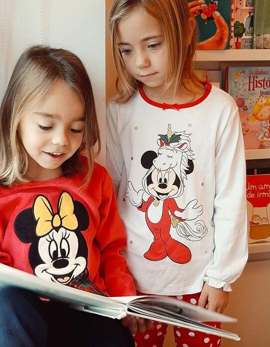 Pijama para Niña 'Christmas Minnie', Blanco/Rojo