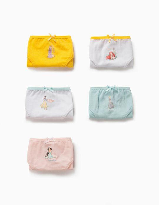 5 culottes fille 'Princesses Disney', multicolore