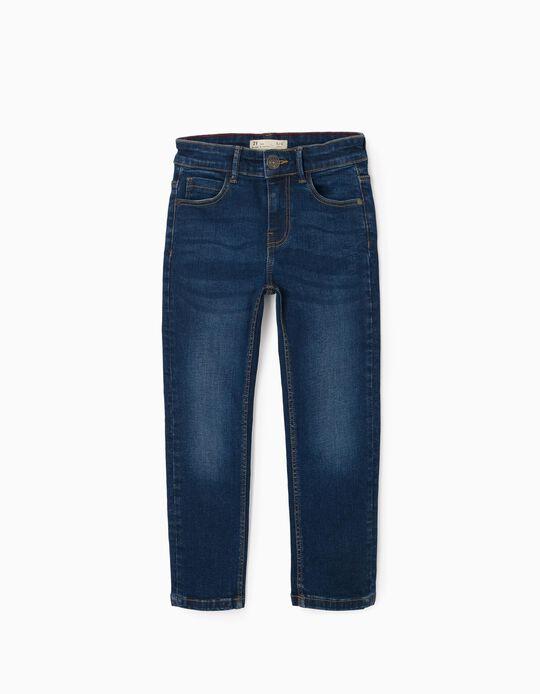 Calças de Ganga para Menino 'Slim Fit', Azul
