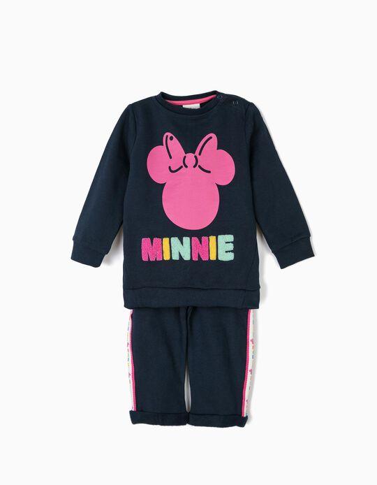 Fato de Treino para Bebé Menina 'Minnie', Azul Escuro