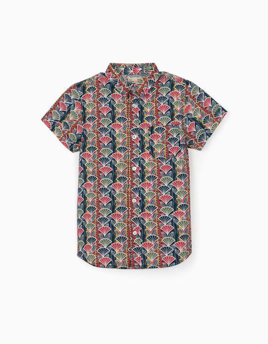 Camisa Estampada para Menino, Multicolor