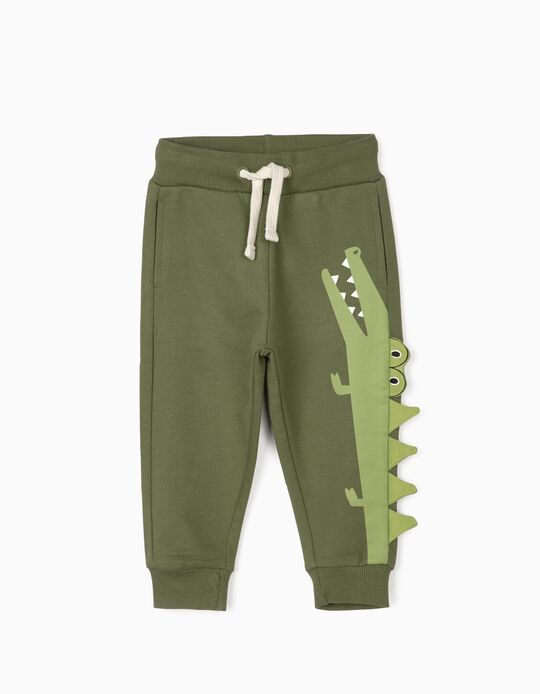 Joggers for Boys, 'Croc', Green