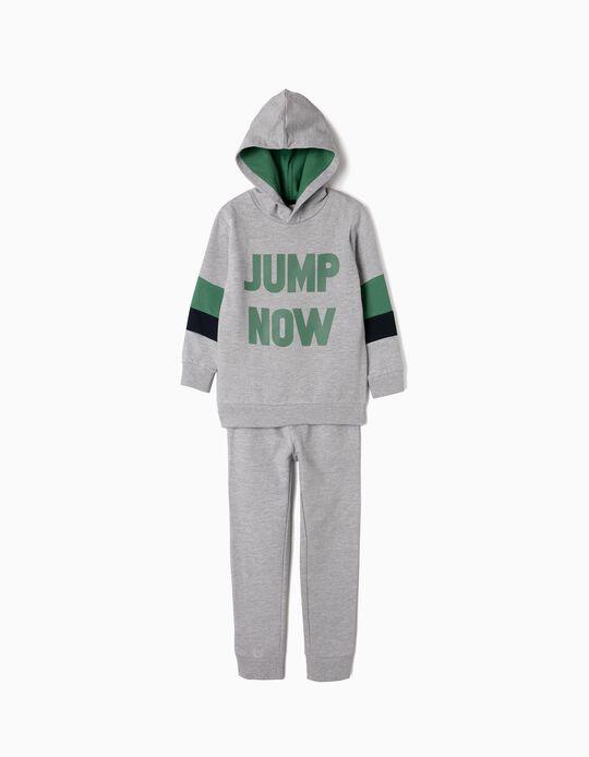 Fato de Treino para Menino 'Jump Now', Cinza