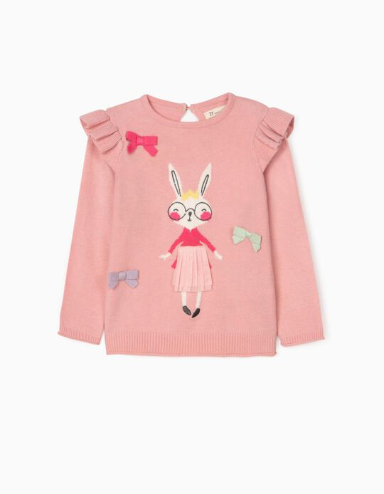 Jumper for Baby Girls 'Mrs. Rabbit', Pink