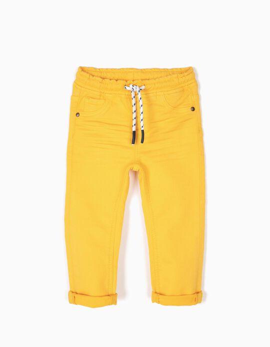 Calças Denim Amarelas