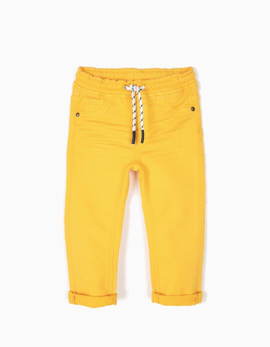 Pantalón Denim Amarillo