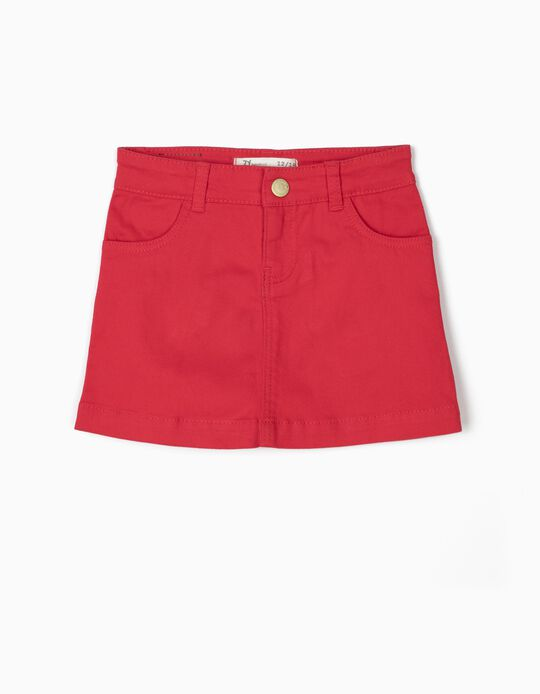 Denim Skirt for Baby Girls, Red