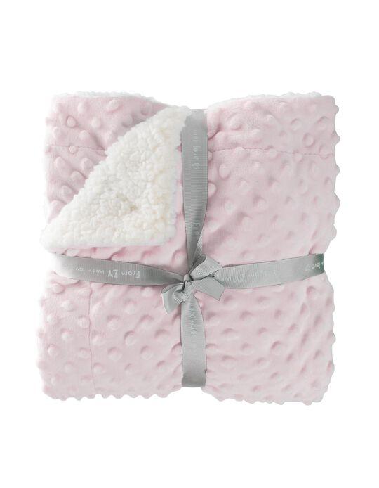 Manta Polar 100X75Cm Bubble Zy Baby Pink