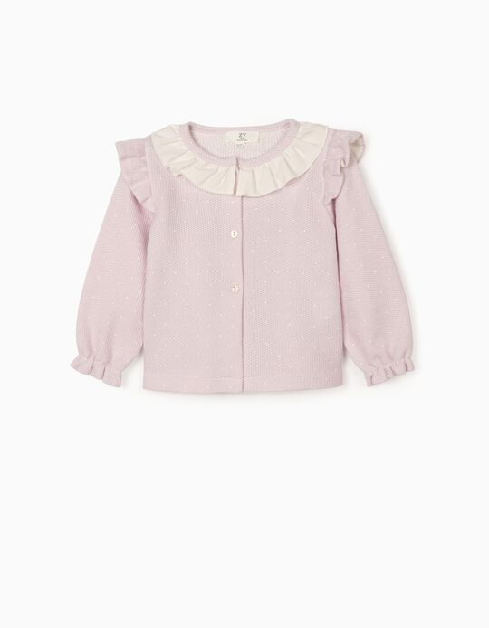 Frilled Cardigan for Baby Girls, Purple