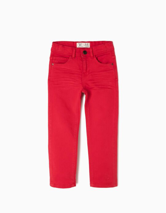 Pantalón Slim Fit Rojo