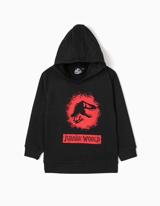Sweatshirt com Capuz para Menino 'Jurassic World', Preto