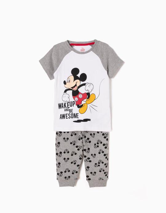 Pijama Manga Curta e Calças Mickey Wake Up