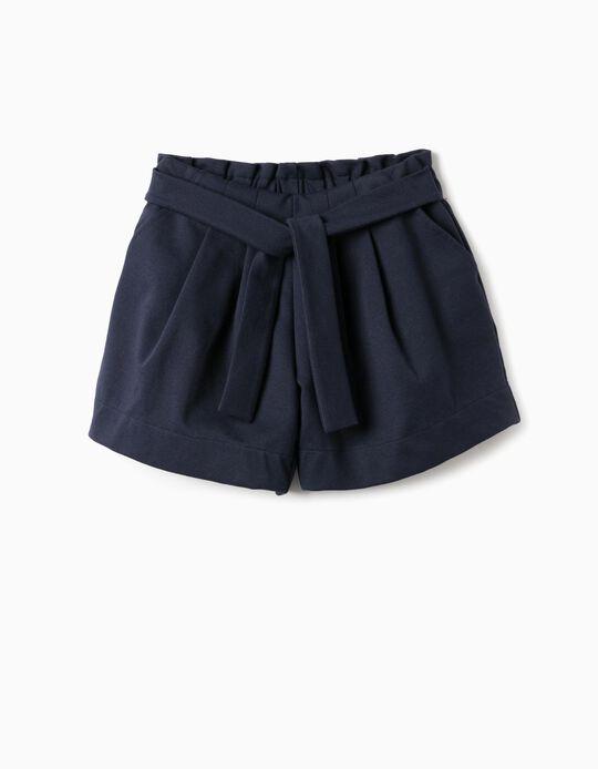 Short para Niña, Azul Oscuro