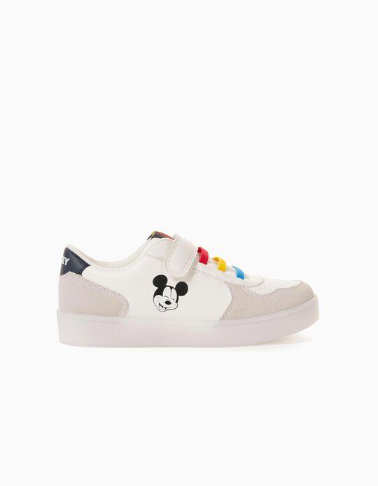 Zapatillas con Luces para Niño 'Mickey', Blanco