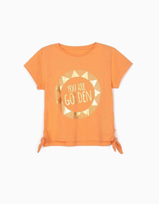 T-shirt for Girls, 'Golden', Orange