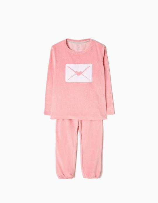 Pijama de Terciopelo Letter Rosa