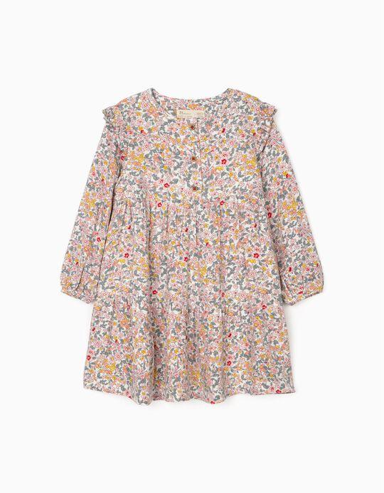 Vestido Floral para Bebé Menina, Multicolor
