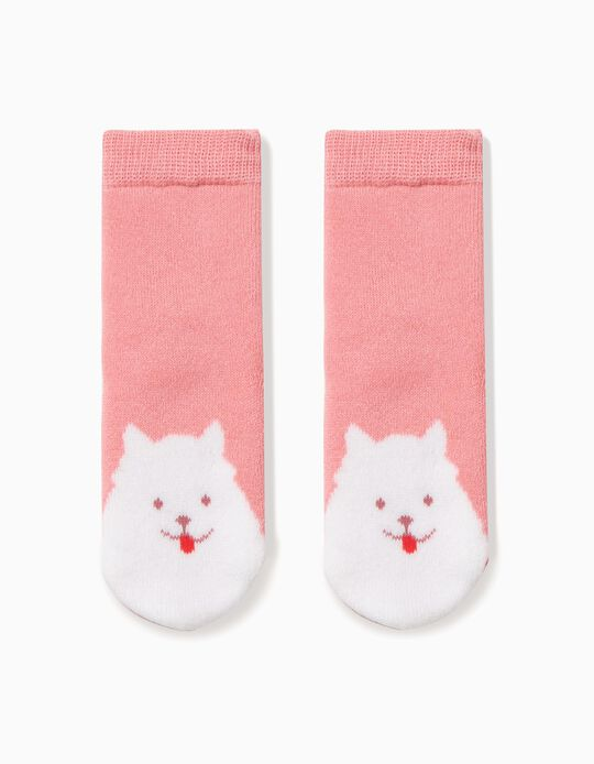 Calcetines Antideslizantes Dog Rosa