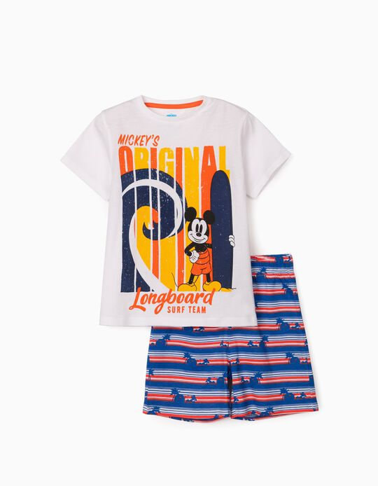Pyjamas for Boys, 'Mickey Surf Team', White/Orange/Blue